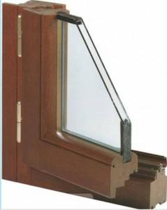 Sezione vetro termico su telaio