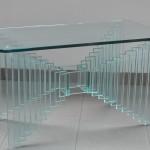Tavolo rettangolare con base incrociata